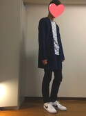tatsukiさんの「【WEB限定】ストレッチボーダーボートネックTee#(JOURNAL STANDARD|ジャーナルスタンダード)」を使ったコーディネート