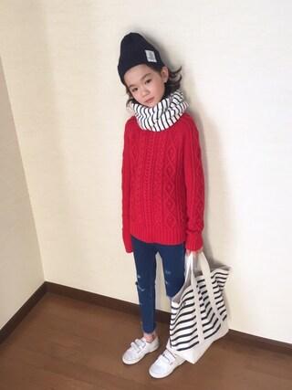 nati+genさんの「Smoothy Color knit cap / スムージー カラーニットキャップ(Smoothy スムージー)」を使ったコーディネート