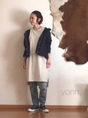 yonnさんの「■忽那汐里さん着用■ピグメントロングTシャツ【niko and ...】(niko and...|ニコアンド)」を使ったコーディネート