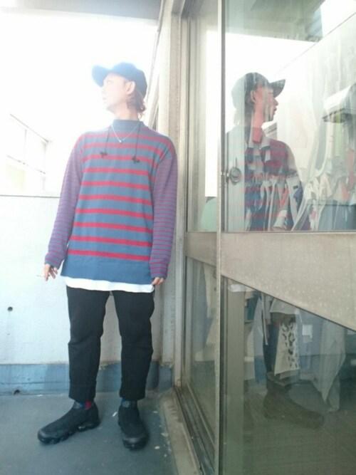 22uuuu_keisuuuu使用「superthanks(イージーパンツ)」的時尚穿搭