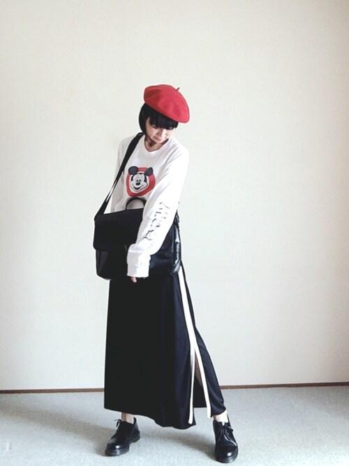ぺんぺんさんの「カットジョーゼットラインスカート【niko and ...】(niko and...)」を使ったコーディネート