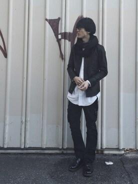 Takuro Matsumotoさんの「【店舗限定アイテム】STUDIOUS レザーシャツブルゾン MADE IN JAPAN(STUDIOUS)」を使ったコーディネート