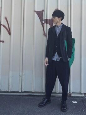 Takuro Matsumotoさんの(ISSEY MIYAKE)を使ったコーディネート
