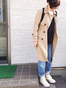 masamiさんの「【注目アイテム】CC-15204 T/R/PU TRENCH COAT(ROSE BUD COUPLES)」を使ったコーディネート
