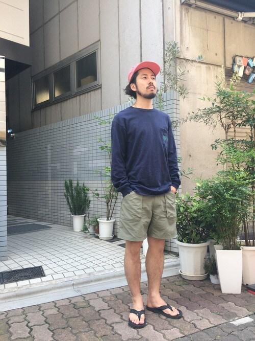 23度 服装 メンズコーデ ショートパンツ 画像2