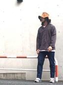 「MINNETONKA / Suede Hat(Minnetonka)」 using this crementy looks