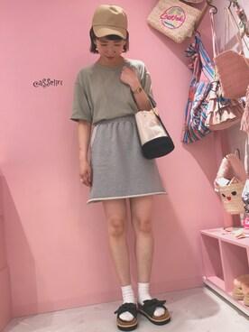 Casselini shop|ayumi☻さんの「スウェット裁ちきりスカート(Kastane)」を使ったコーディネート