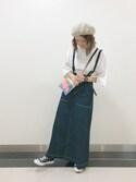 セ イ カ .さんの「マキシ丈トラペーズスカート(w closet カオリノモリ)」を使ったコーディネート