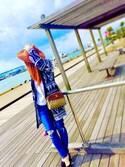 mamekoさんの「クラッシュフレイドヘムスキニーデニム(AZUL by moussy|アズールバイマウジー)」を使ったコーディネート