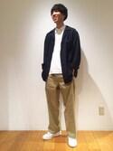 tominagaさんの「High GG Pique Double Cloth Polo / MEN(AURALEE|オーラリー)」を使ったコーディネート