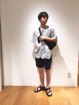 Bshop グランフロント大阪店|tominagaさんのパンツ「クライミングショーツ MEN(Gramicci|グラミチ)」を使ったコーディネート