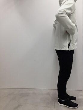 DESCENTE BLANC MARUNOUCHI|KIMURAさんのブルゾン「ALLTERRAIN / オルテライン : PARAHEM SHELL JK #(DESCENTE ALLTERRAIN|デサント オルテライン)」を使ったコーディネート