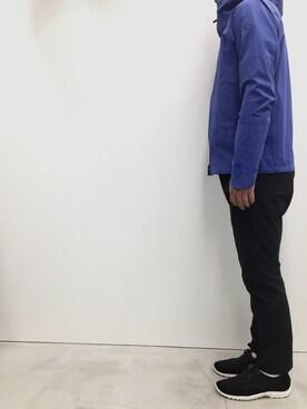 DESCENTE BLANC MARUNOUCHI|KIMURAさんのナイロンジャケット「ストリームライン ボアシェルジャケット / STREAMLINE BOA SHELL JACKET(DESCENTE ALLTERRAIN|デサント オルテライン)」を使ったコーディネート