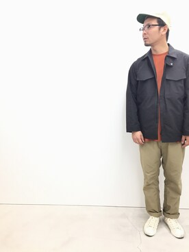 DESCENTE BLANC MARUNOUCHI|KIMURAさんのその他アウター「フィールドジャケット /FIELD JACKET (DESCENTE|デサント)」を使ったコーディネート