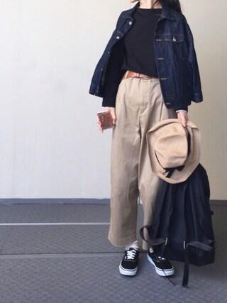 Chocorooさんの「デニム7分袖Gジャン(studio CLIP|スタディオクリップ)」を使ったコーディネート