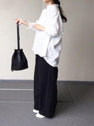 Chocorooさんの「バンドカラーシャツ KLS  WOMEN(LE GLAZIK|ル・グラジック)」を使ったコーディネート