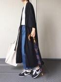 Chocorooさんの「長傘 / バンブー ゴールド(Traditional Weatherwear トラディショナルウェザーウェア)」を使ったコーディネート