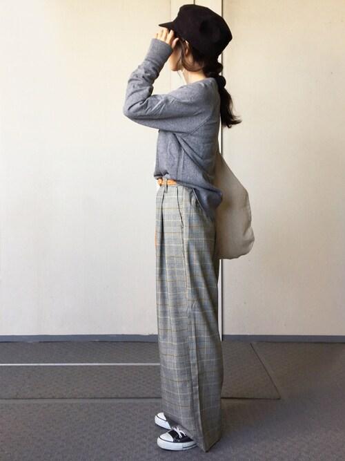 Chocorooさんのキャスケット「スエード マリンキャップ(ORCIVAL オーシバル)」を使ったコーディネート