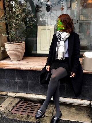 Mikakoさんの「チェック起毛ストール(Avan Lily|アヴァンリリィ)」を使ったコーディネート