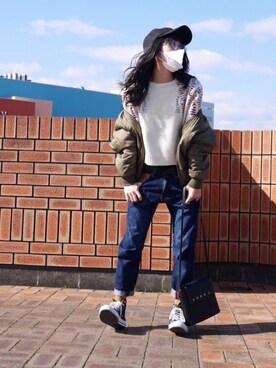 ©️小豆さんの(X-girl|エックスガール)を使ったコーディネート