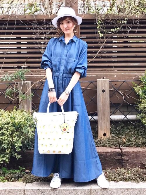 SENA YASUEDAさんの「ワンピース (長袖)(LACOSTE)」を使ったコーディネート