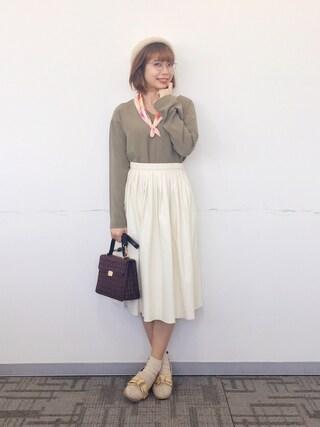 marrysoupさんの「プリーツスカート(LOSICARIE|ロシカリエ)」を使ったコーディネート