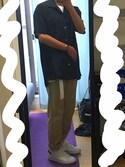 さかさんの「サテンオープンカラーシャツ(UNITED TOKYO|ユナイテッドトウキョウ)」を使ったコーディネート