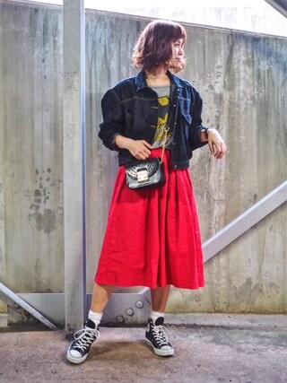 「レースパンチングバッグ【PLAIN CLOTHING】(PLAIN CLOTHING)」 using this natsupoo looks