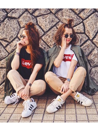「バットウイングTシャツ(Levi's)」 using this natsupoo looks