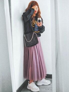natsupooさんのスカート「チュールロングスカート(fifth フィフス)」を使ったコーディネート