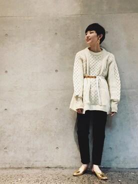 ADAM ET ROPE' FEMME ルクア大阪|riho yamaguchiさんの「FRENCH NOUVEAU SLIM FIT(SOMETHING)」を使ったコーディネート