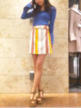 miho♡さんの「Vネックトランペットスリーブプルオーバー◆(REDYAZEL)」を使ったコーディネート