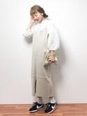 りっぴーさんの「オーガンジー刺繍バルーントップス(PAGEBOY|ページボーイ)」を使ったコーディネート