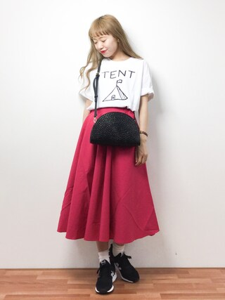 「PROJECT TRADE MARK ロゴTee(URBAN RESEARCH DOORS WOMENS)」 using this ZOZOTOWN|りっぴー looks