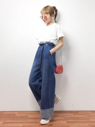 「バックプリントTEE(UNITED TOKYO)」 using this ZOZOTOWN|りっぴー looks