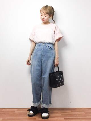 「17/1 BIG POCKET T-SHIRT(I am I in fact...)」 using this ZOZOTOWN|りっぴー looks