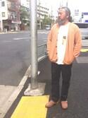 熊坂スグルさんの「supp サップ 箔テープビッグTシャツ(SUPP.|サップ)」を使ったコーディネート
