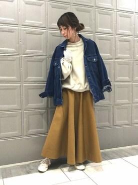 JOURNAL STANDARD 横浜店|Kandaさんの「Dickies×JOUNAL STANDARD サーキュラースカート◆#(JOURNAL STANDARD)」を使ったコーディネート