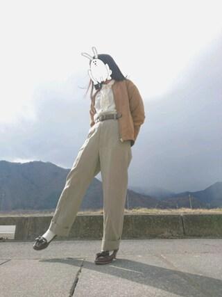 onionさんの「ラウンドタックフリルブラウス(earth music&ecology アースミュージックアンドエコロジー)」を使ったコーディネート
