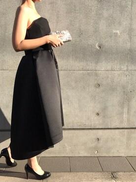 THE DRESS|THEDRESSさんの「YOKO CHAN  ヘムラインドレス(YOKO CHAN)」を使ったコーディネート
