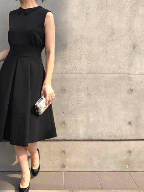結婚式 服装 黒 50代