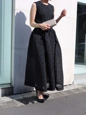 THE DRESS|THEDRESSさんの「Simone Rocha(シモーネ ロシャ)  ピケ・ミディドレス(Simone Rocha)」を使ったコーディネート
