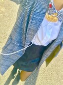 ktkさんの「フェイクレザー A LINE ミニスカート(EMODA エモダ)」を使ったコーディネート