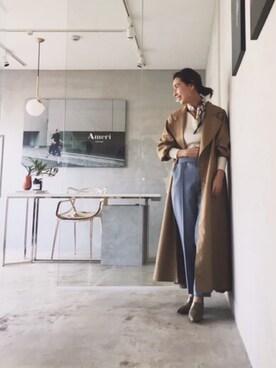 黒石奈央子さんの(AMERI|アメリヴィンテージ)を使ったコーディネート