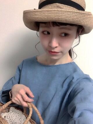 工藤春佳さんの「Boxed Hat 11cm Brim(Bshop|ビショップ)」を使ったコーディネート