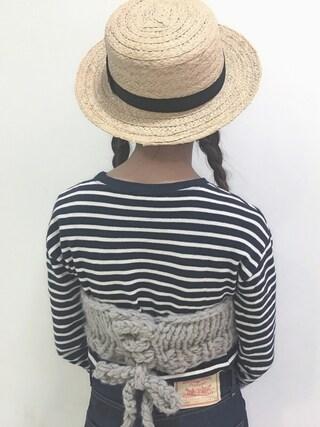 工藤春佳さんの「LEVI'S VINTAGE CLOTHING 1950s 701/テーパード/リジッド/セルビッジデニム(LEVI'S VINTAGE CLOTHING|リーバイス・ビンテージ・クロージング)」を使ったコーディネート