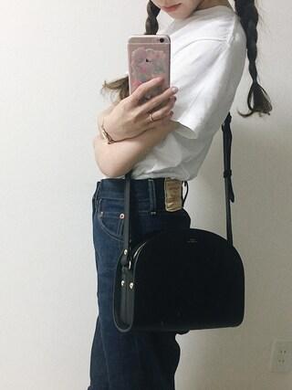 工藤春佳さんの「AURALEE / シームレスクルーTシャツ(AURALEE|オーラリー)」を使ったコーディネート