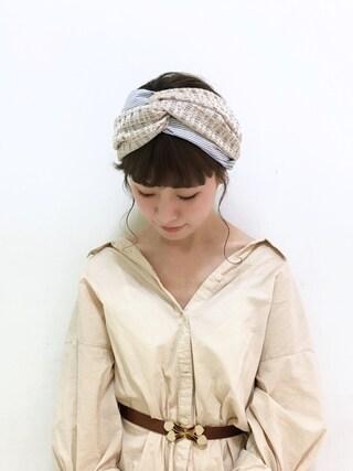 工藤春佳さんの「60ローンコットンビッグシャツ(Ciaopanic|チャオパニック)」を使ったコーディネート