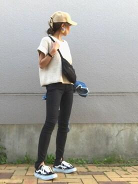 ☻おまゆさんの「Tangis Hand Knit(TODAYFUL|トゥデイフル)」を使ったコーディネート