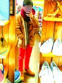 れいさんの「WOMEN エクストラファインメリノハイネックセーター(長袖)(ユニクロ|ユニクロ)」を使ったコーディネート